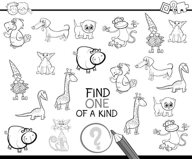 Encontrar uno de un tipo para colorear página | Descargar Vectores ...