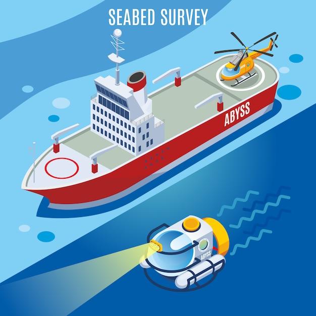 Encuesta sobre el fondo marino vector gratuito