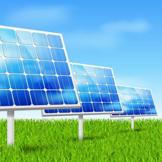 Energ 237 A Ecol 243 Gica Paneles Solares Descargar Vectores Gratis
