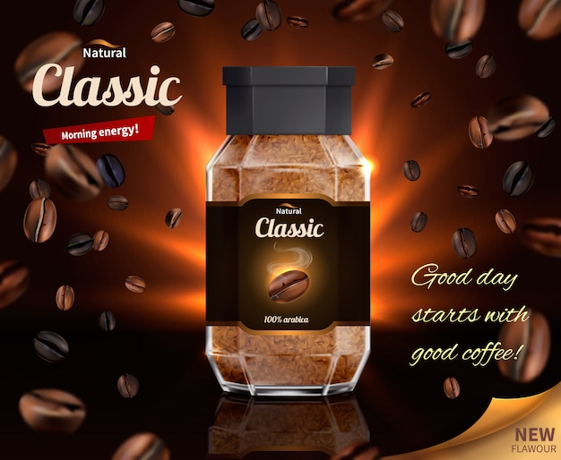 Energía matutina del café natural vector gratuito