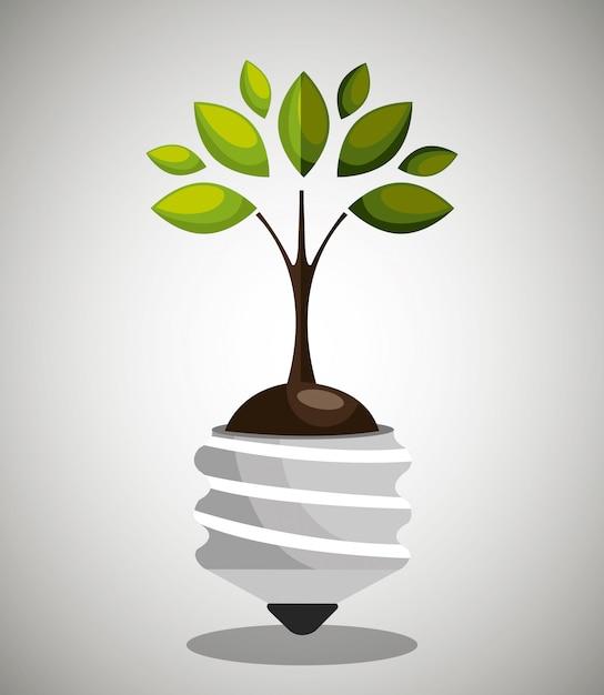 Energía renovable vector gratuito