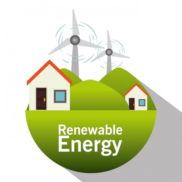 Energía verde y ecología. vector gratuito