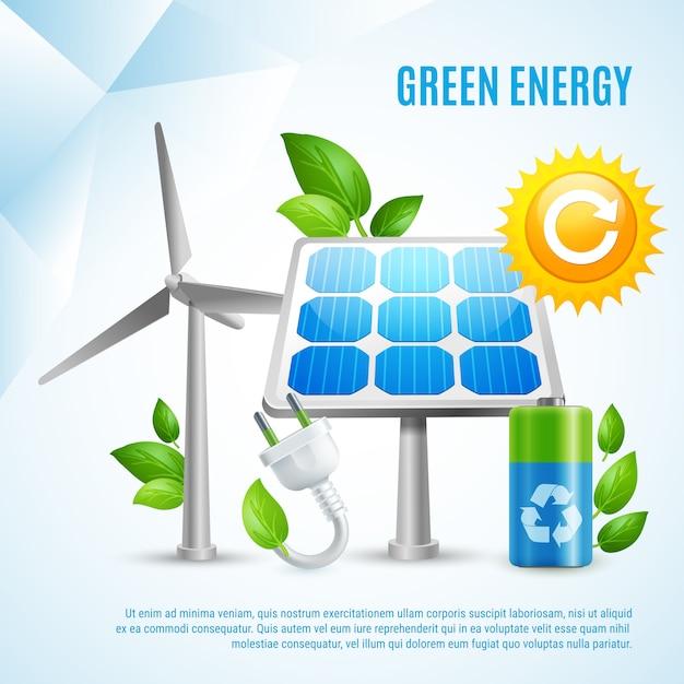 Energía verde vector gratuito