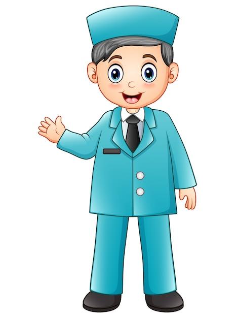 Enfermera De Dibujos Animados En Uniforme Azul Descargar