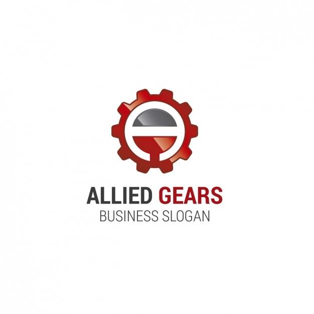 Engranaje del logotipo de la plantilla vector gratuito
