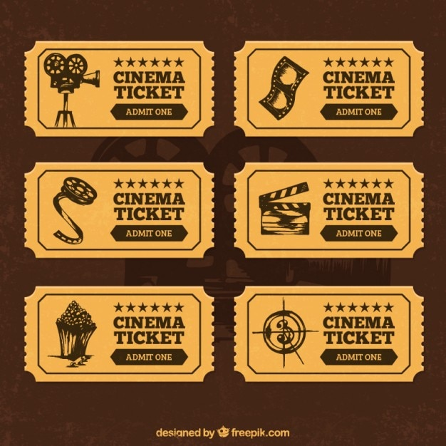 Entradas De Cine En El Estilo Retro 798253 on free printable movie ticket templates