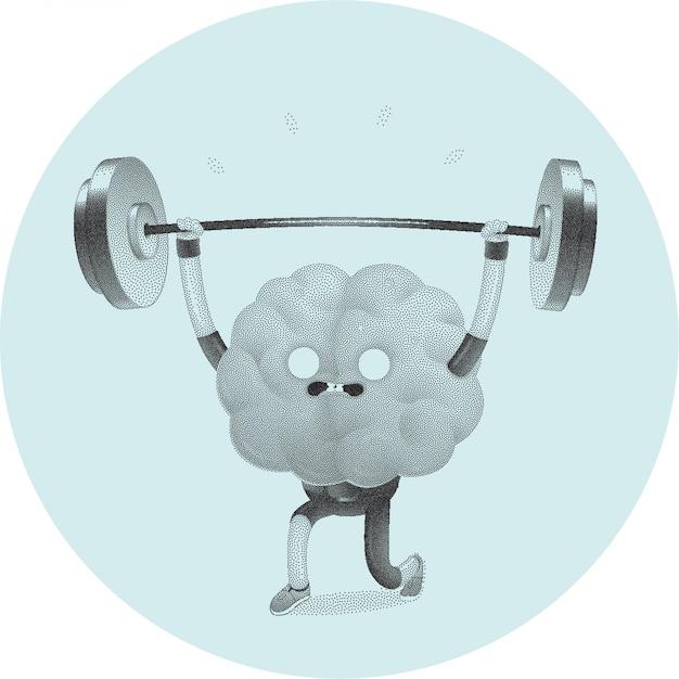 Entrena tu cerebro entrenando la actividad cerebral. Vector Premium