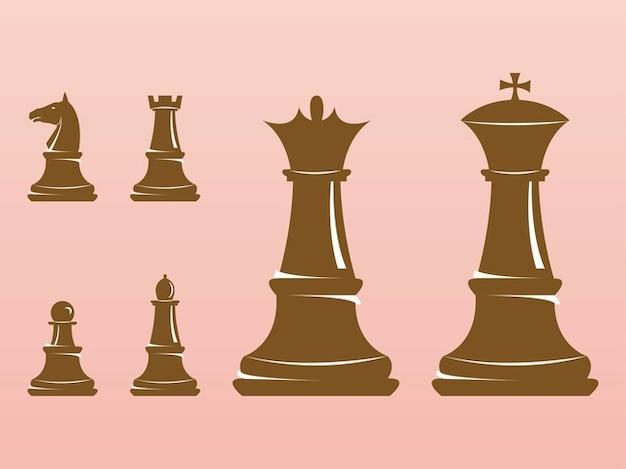 entretenimiento ajedrez figuras vectoriales | Descargar Vectores ...