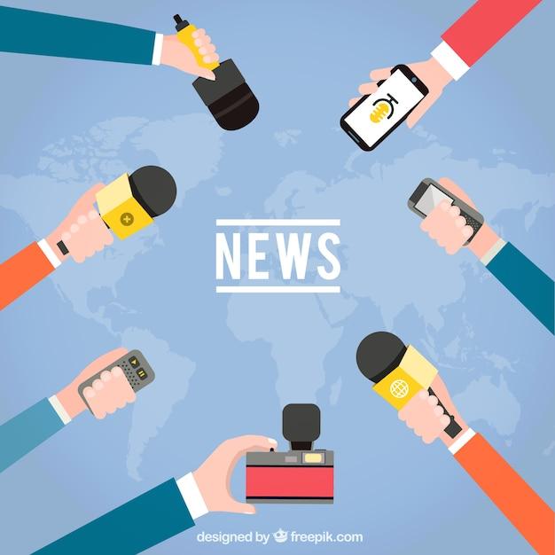 Entrevista noticias vector gratuito
