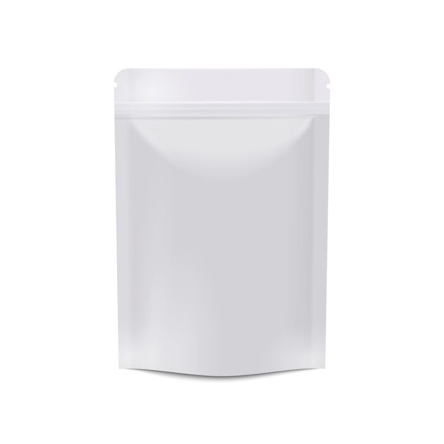 Envasado de alimentos en blanco blanco realista Vector Premium