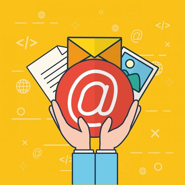 Enviar concepto de correo electrónico vector gratuito