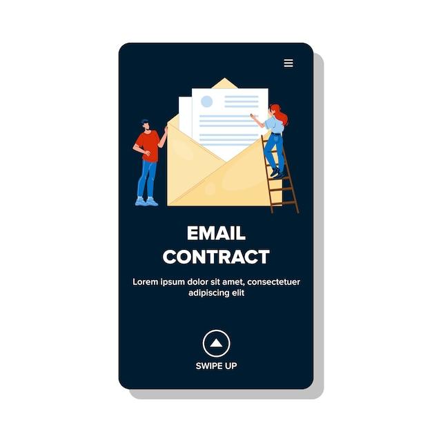 Enviar correo electrónico a gente de negocios Vector Premium