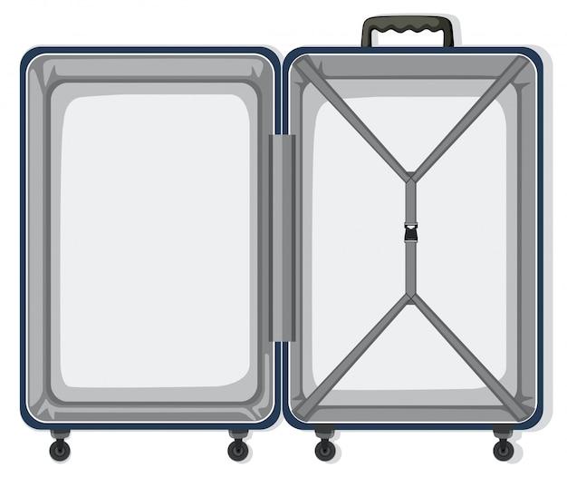 Un equipaje de viaje vacío. vector gratuito
