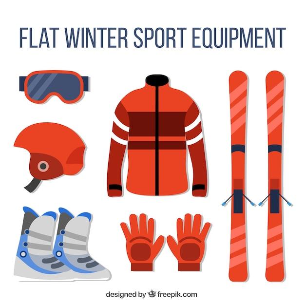 456588b62498 Equipamiento y accesorios para esquiar | Descargar Vectores gratis