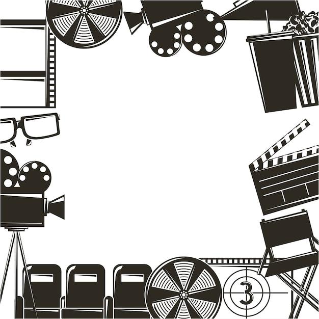 Equipo de película cine película set iconos | Descargar Vectores Premium