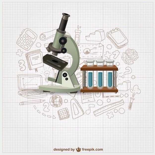 Equipo de laboratorio vector gratuito