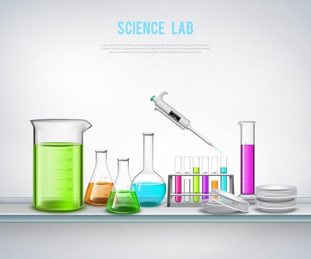 Equipo químico en la composición de doce vector gratuito
