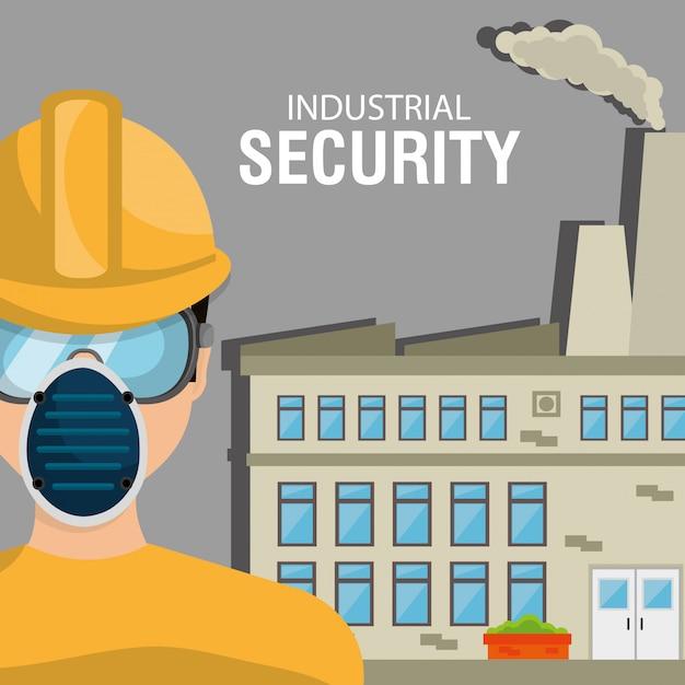 Equipo de seguridad industrial vector gratuito