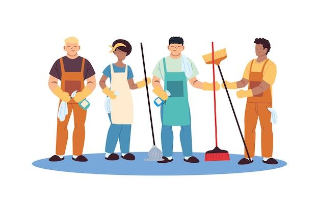 equipo de limpieza