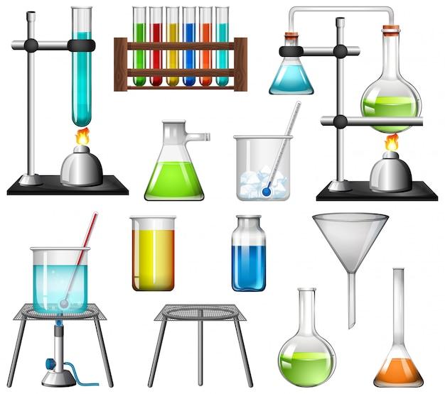 Equipos de ciencia vector gratuito