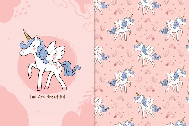Eres hermosa unicornio Vector Premium