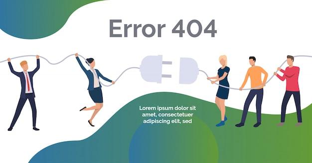 Error en la plantilla de diseño web vector gratuito