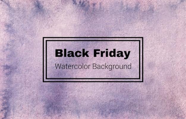 Este es un diseño de textura de fondo de acuarela abstracta de viernes negro Vector Premium