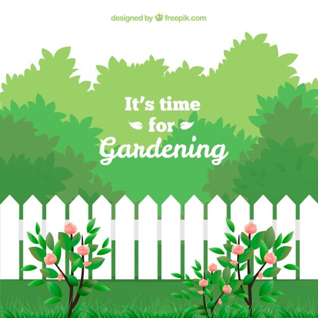 Es hora de la jardinería vector gratuito
