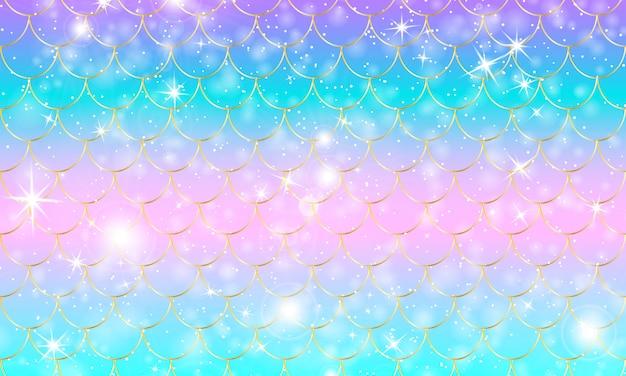 Escamas de sirena. pez squama. patrón de arcoiris Vector Premium