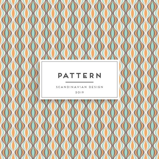 Escandinavo de patrones sin fisuras. diseño de impresión de tela vector gratuito