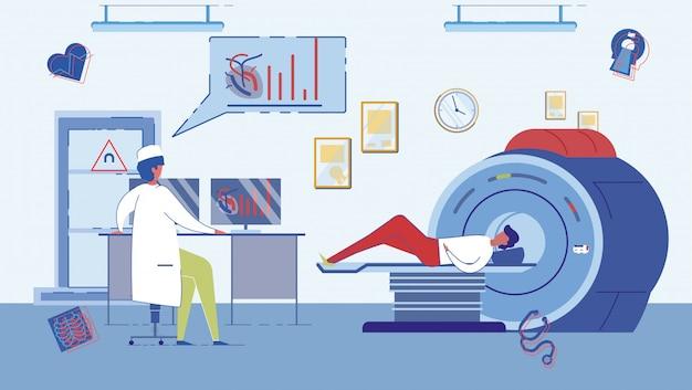 Escáner ct o gabinete de resonancia magnética. Vector Premium