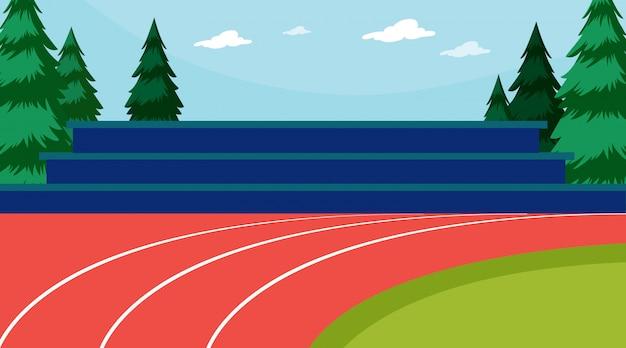Escena de atletismo vector gratuito