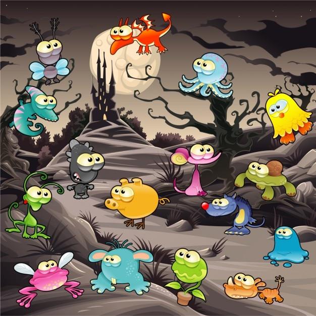 Monstruo personaje de dibujos animados fotos y vectores