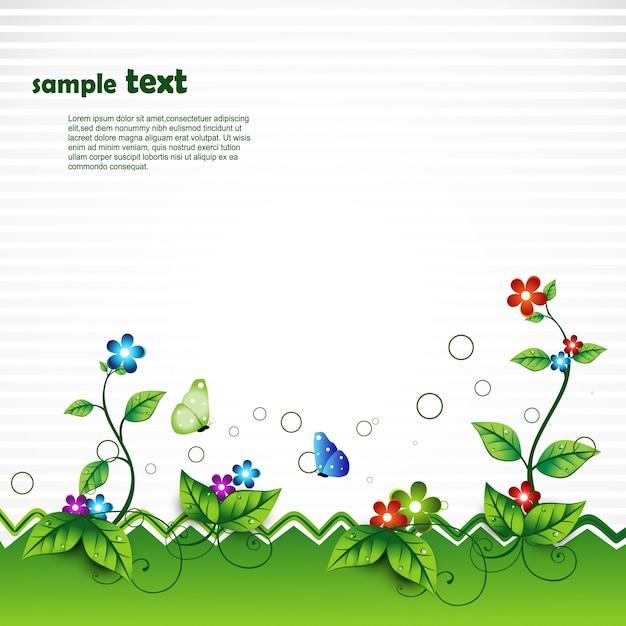 Escena de naturaleza vectorial con espacio para texto Vector Gratis