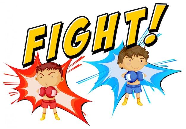 Escena joven boxeador vector gratuito