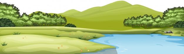 Escena de paisaje natural vector gratuito