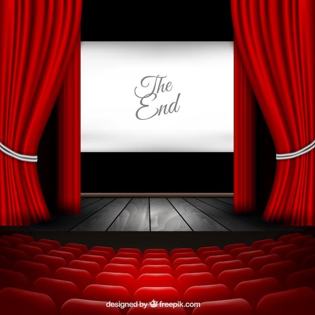 Escenario del teatro Vector Gratis