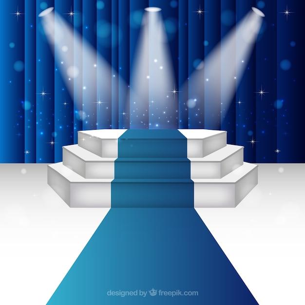 Escenario podio iluminado Vector Premium
