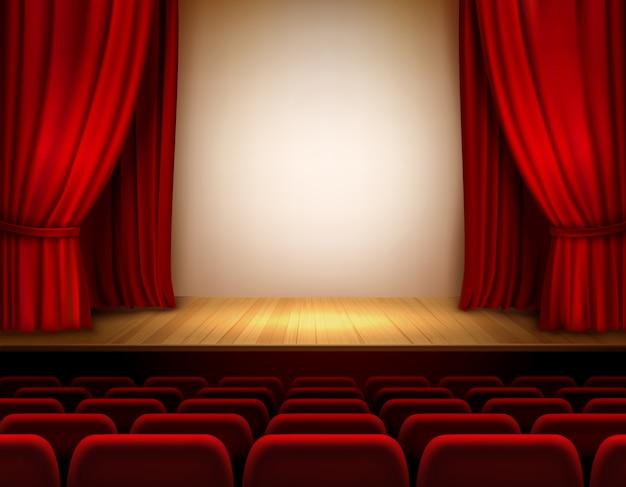 Escenario de teatro vector gratuito