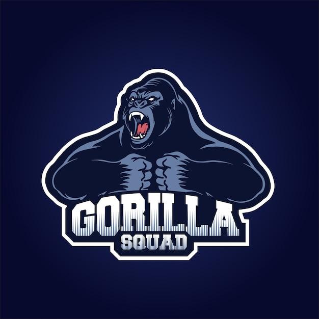 Escuadrón de gorilas Vector Premium