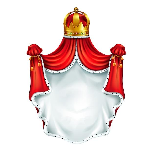 Escudo de armas medieval, emblema heráldico. vector gratuito