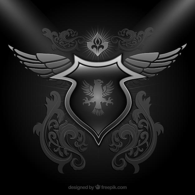 f3c07e4e096 Escudo ornamental en color negro | Descargar Vectores Premium