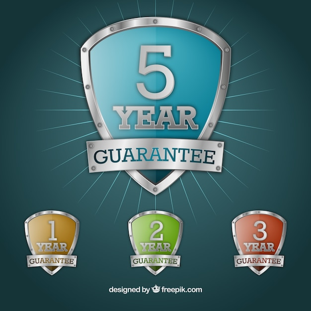 Escudos de garantía vector gratuito