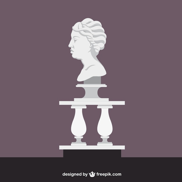 Escultura romana de una cabeza vector gratuito