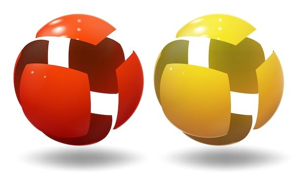 Esfera de alta tecnología, bola. burbuja industrial. Vector Premium