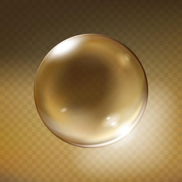 Esfera de cristal realista. globo de cristal vacío brillante ...