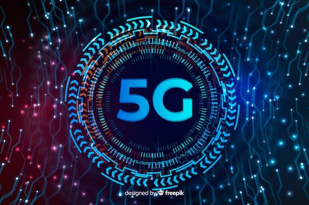 Esfera de tecnología para el fondo del concepto 5g vector gratuito