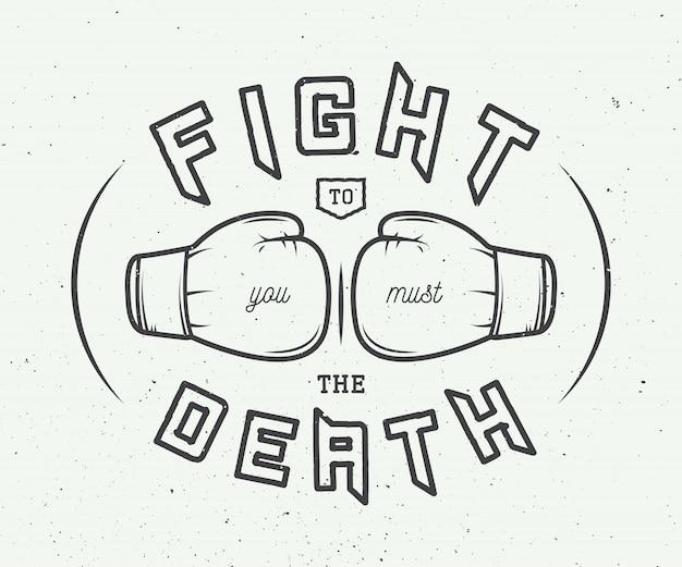 Eslogan de boxeo Vector Premium