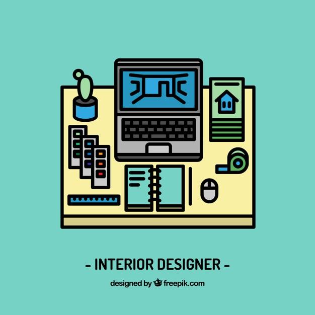 Espacio de trabajo de dise ador de interiores descargar - Disenador de espacios ...