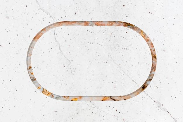 Espacio de diseño de marco de mármol vector gratuito